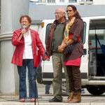 Die Schirmherrin Bürgermeisterin Schäfer-Blake begrüßt die Gäste nachdem die BV Vorsitzende das Fest eröffnet hatte