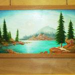 Ein Landschaftsbild, Öl auf Leinwand von Johannes Bauer