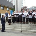 Akkordeon und Chor unter der Leitung von Alexander Schröder