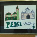 """Der Asylbewerber Nigeri gab seinem Bild den Namen: """"Peace World"""""""