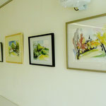 Aquarellbilder von dem Heimatort des Künstlers: Burgbernheim