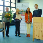 Von links: Herr Selbach, Frau Selbach, Christiane Kerner und Pfarrer von Egidy