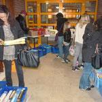Im Flohmarkt wurden neben zahlreichen Büchern auch noch Spiele und CD´s angeboten