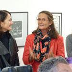 Die Vorsitzende des BV-Heuchelhof zeigte sich beeindruckt von der Tätigkeit der Arche. Links neben ihr: Die Architektin Fr. Rauf, rechts Fr. Hofmann von St. Totnant