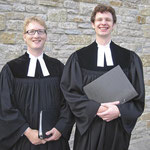 Foto: G. Selbach, Pfarrer Max v. Egidy und Vikar Gottfried Kaeppel