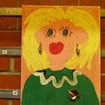 Eine Blondine