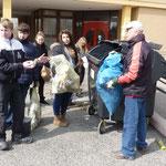 Entsorgung des Sammelergebnisses in Mülltonnen
