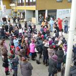 Faschingsgaudi am Rosenmontag auf dem Marktplatz