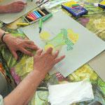 Arbeiten mit Pastellkreide im Workshop