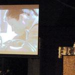 Frau Schaut stellte an Hand von Lichtbildern das Projekt Sherpa Schule Bamti Bhandar vor