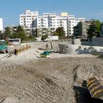 Die Baustelle am 22. September 2010