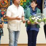 Zum Schluß der Feier bedankt sich Herr Diegruber mit einer kurzen Rede für den Bürgerpreis