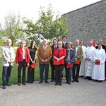 Einzug der Kirchenvorsteher, Dekane, Pfarrer u. Gäste zum Festgottesdienst