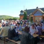 Bei einem gemütlichem Beisammensein im Weingut Fesel klang die Veranstaltung aus