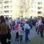 Auch in der Luxemburger Straße gabs einen Halt für Gesang, Tanz und Spaß