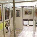 In einer Ausstellung wurde die thematische und künstlerische Vielfalt der Künstler vom Heuchelhof vorgestellt