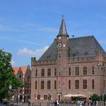 Das Rathaus in der historischen Altstadt von Kalkar.