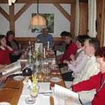 Abends trafen sich alle in Gerolstein in der Schwarzbrennerei in Gerolstein.