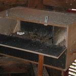 Schleiereulengelege im Kasten auf dem Brandoberndorfer Kirchturm
