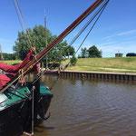 die Harle verläuft rund 1,5 Kilometer vom Museumshafen bis zur Nordsee