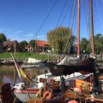 Ebbe und Flut im als Sielhafen angelegten Museumshafen von Carolinensiel