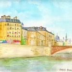パリ・セーヌ河のほとりで