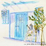 青い扉のcafe