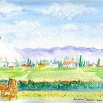 安曇野・カフェからの田園風景
