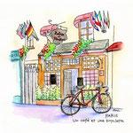 パリ・カフェと自転車