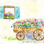 フランス・窓と花車