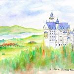 ドイツ・ノイシュヴァンシュタイン城とフュッセンの街