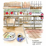 金沢・町屋カフェからの眺め