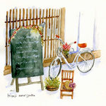 木曽路の町屋カフェ