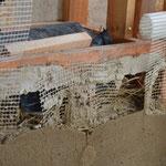 Structure interne du mur à l'aplomb de l'appui de fenêtre.