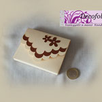 Art 4 D -Scatolina portaconfetti, segnaposto, avorio e marrone