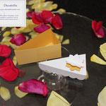 Art.23B-     portaconfetti segnaposto fetta di torta