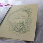 libretto messa pergamena con cornice verdina