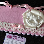 Art. 43 E Guestbook o album foto bebé rosa o celeste, decoro a scelta in gesso