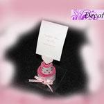 Tortina segnaposto memo o portafoto realizzata in pannolenci di 3 colori