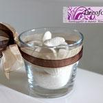 Art 3 D - bicchiere vetro con sali e conchiglie profumate