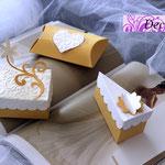Art.37B-    portaconfetti, segnaposto, fetta di torta, scatoline nozze
