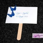 Ventaglietto e guestbook farfalline e strass in blu