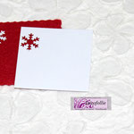 Art. 339 E Bigliettino quadrato con foro fiocchetto di neve