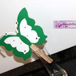 Ventaglietto farfalla verde