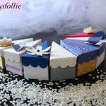 Art.26B-    portaconfetti, segnaposto, fetta di torta, scatoline nozze