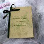 Libretto carta marmorea avorio verde