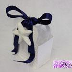 Art. 7 E- Borsettina con nastrino blu e gesso stella marina