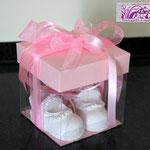 Scatola scarpette neonata gesso polvere di ceramica