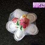 Portaconfeti petali con gesso cuore decoupato