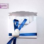 segnaposto bianco e blu